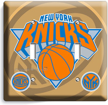 New York Knicks Nyk Ny Nba Basketball Double Light Switch Wall Plate Art Cover - $9.71