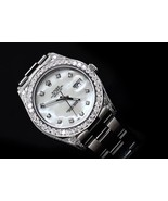 Rolex datejust watch MOP dial stainless steel d... - $10,878.12