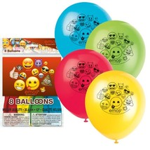 "Emoji 8 Ct Latex 12"" Balloons Birthday Party - €3,80 EUR"