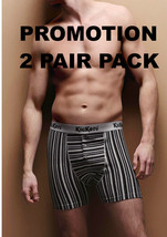 2 Pairs Men Kickers Gray Striped Boxer Shorts - $20.99