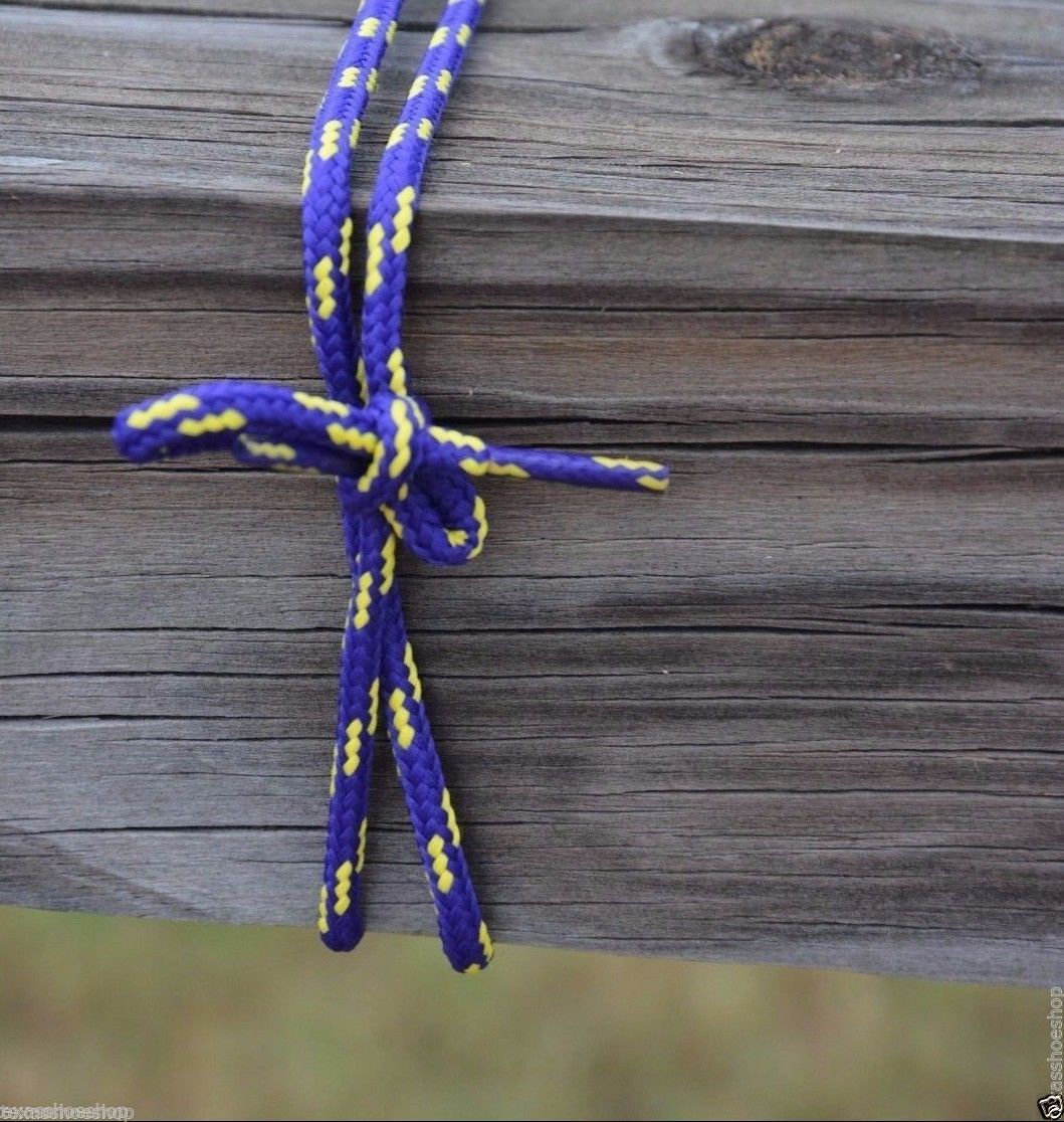 "Purple and Yellow LSU colored Laces 45""-  Long enough for 7 Pairs of eyelets"