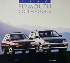 1990 Plymouth COLT Wagons VISTA brochure catalog US 90 4WD Mitsubishi - $6.00