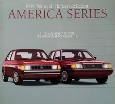 1989 Plymouth HORIZON and RELIANT AMERICA sales brochure catalog US 89 - $6.00