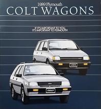 1989 Plymouth COLT Wagons VISTA brochure catalog US 89 4WD Mitsubishi - $6.00
