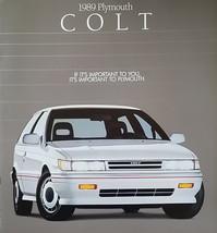 1989 Plymouth COLT sales brochure catalog US 89 E GT Mitsubishi - $6.00