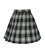 Women`s high waisted plaid short Sexy A line Skirts costumes (L, Black m... - $18.80