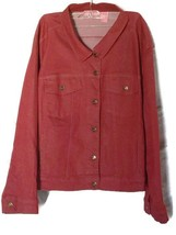 Woman Within Plus Size Ladies Red Button Up Jac... - $11.29