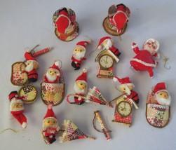11 Vtg Paper Cardboard santa CHRISTMAS ORNAMENT... - $50.00