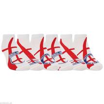 Calcetines de tobillo blancos con bandera y escudo de Inglaterra 6 pares - $10.74
