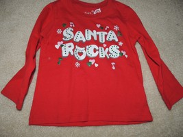 The children's place 24 months 2T Santa Rocks red shirt christmas holiday NWOT - $5.99