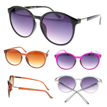 Womens Oversized Round Keyhole Retro Thin Plastic Fashion Trend New Sunglasses - $7.95