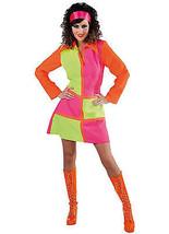 70's Ladies , Fluorescent / Neon  Soul Sister Dress  , sizes 8 -22  - $31.80