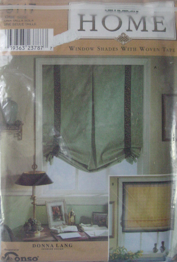 Pattern 9117 Window Shades with Woven Tape