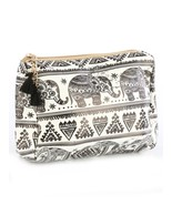 Elephant Print Cosmetic Makeup Bag or Pouch Wal... - $14.84