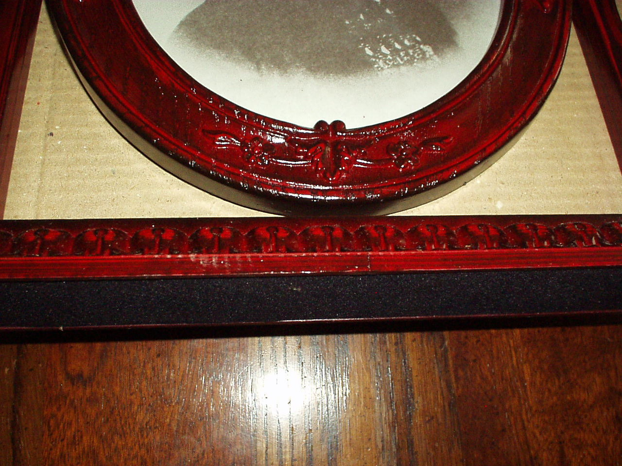 """ANTIQUE REPRODUCTION CARVED-LOOK FRAME - Holds 8"""" x10"""" PHOTO 14"""" H - New in Box"""