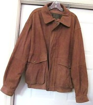 TIMBERLAND WEATHERGEAR VTG GENUINE WATERPROOF COWHIDE LEATHER JACKET-SZ L - $129.94