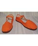 NWOB Chinese Cloth shoes ORANGE Women's 9.5 / 10 Strap flats NEW EU 41 H... - $15.34