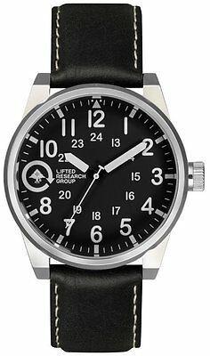 LRG Lifted Field & Research Group Silver/Black 40mm Steel Watch FIE-01011010 NIB
