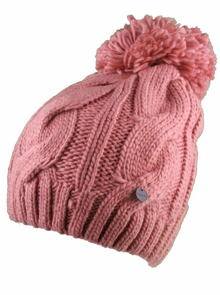 Bench Rose Lavendah Woodley Pompon Tricot Pompon Chapeau Bonnet Hiver Bonnet