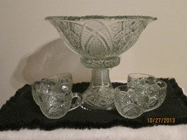 MCKEE PUNCH BOWL CONCORD PATTERN COMPLETE WITH ... - $108.80