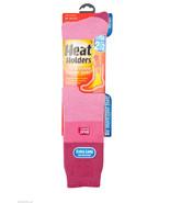 Ladies Heat Holders Graham Bell Ski Socks Baby Pink with rasberry stripe - $19.99