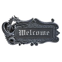 Design Toscano Dragon Welcome Wall Plaque - $31.67