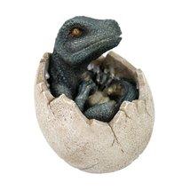 Green Dinosaur Prehistoric Egg Collectible Figurine - $12.36