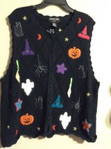 Hampshire Studio Halloween Sweater Vest Sz 2 X - $21.49