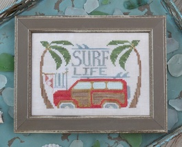 Surf Life #10 cross stitch chart Hands On Design - $5.40