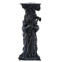 Triple Goddess Mother Maiden Crone Tea Light Candle Holder Stand 10 Inch... - $31.67