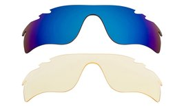 New Replacement Lens Oakley Vented Radar Lock   Hi Yellow Blue - $32.48