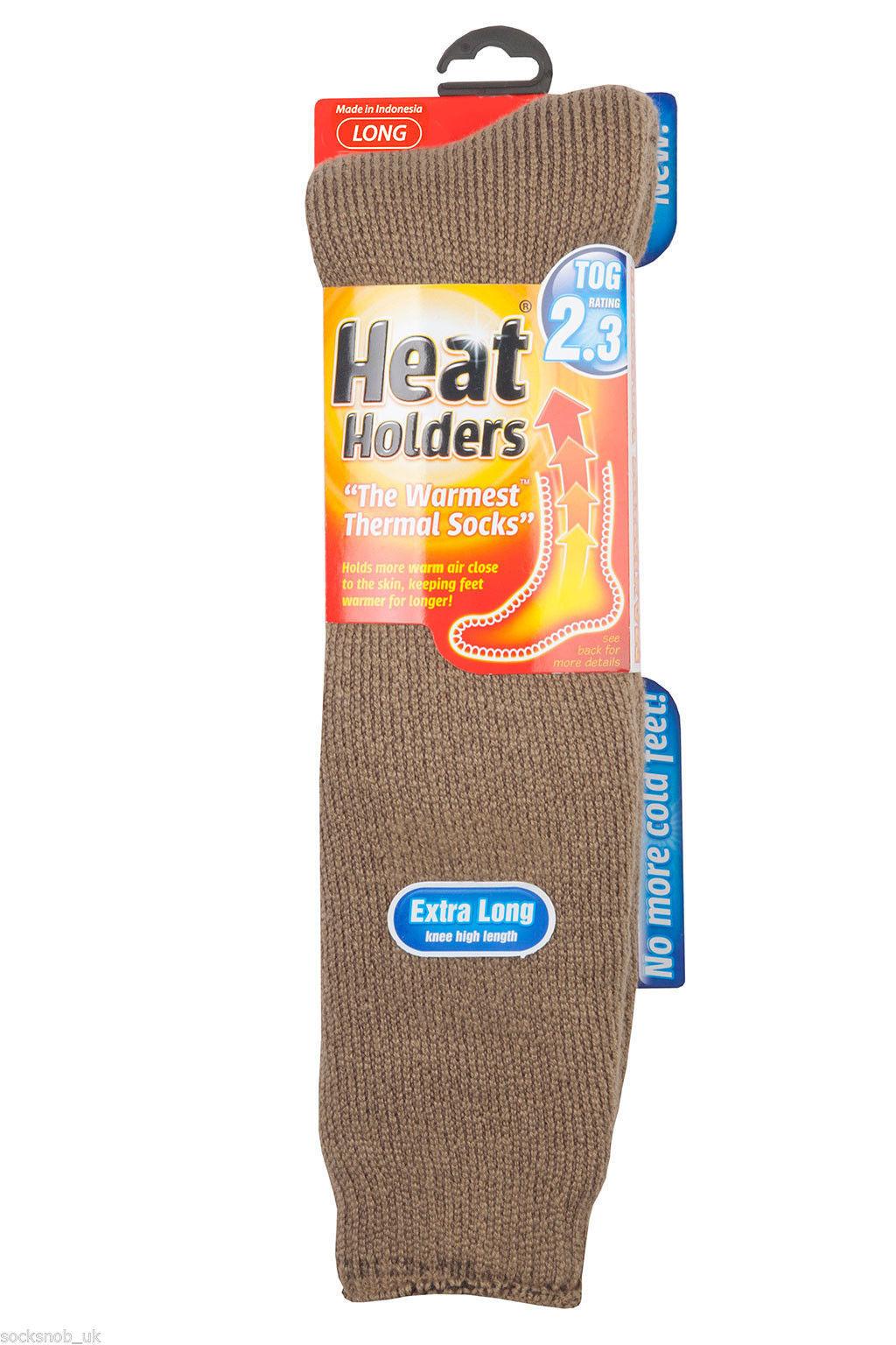 Heat Holders - Mens Thermal Long Socks All Colours 6-11 uk, 39-45 eur,7-12 us - $19.99