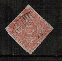NEW BRUNSWICK Scott # 1 VG-F USED IMPERFORATE (396341504) - $98.95