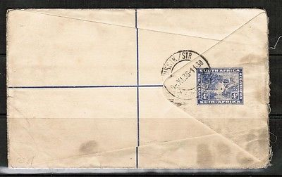 SOUTH AFRICA JOHANNESBURG to ENGLAND UPRATED REGISTERED AIRMAIL COVER  (OS-249)