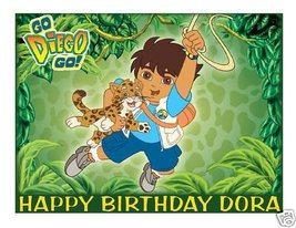 Diego edible cake image frosting sheet topper - $9.99