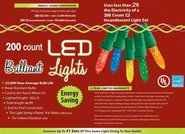 Morris Costumes Holiday Lights 200l c3 Multi - $38.92