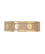 Creamy Tan Enamel Fashion Bangle Bracelet with ... - $11.88