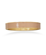 Dusty Desert Tan Enamel Fashion Hinged Bangle B... - $6.00