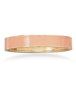Light Peach Enamel Fashion Hinged Bangle Bracel... - $6.00