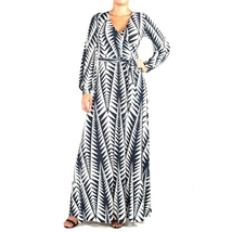 Janette Fashion | Zig Zag Faux Wrap Maxi Dress ... - $45.00