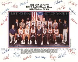 1992 Nba Dream Team Autographed 8x10 Rp Photo Michael Jordan Pippen Bird Barkley - $18.99