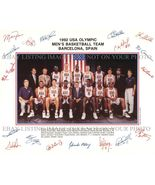 1992 NBA DREAM TEAM AUTOGRAPHED 8x10 RP PHOTO MICHAEL JORDAN PIPPEN BIRD... - $18.99