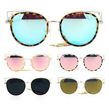 Womens Retro Designer Cat Eye Wire Horn Rim Diva Sunglasses - £9.29 GBP