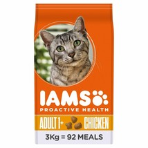 Iams Adult Dry Cat Food Chicken 3kg - $55.04