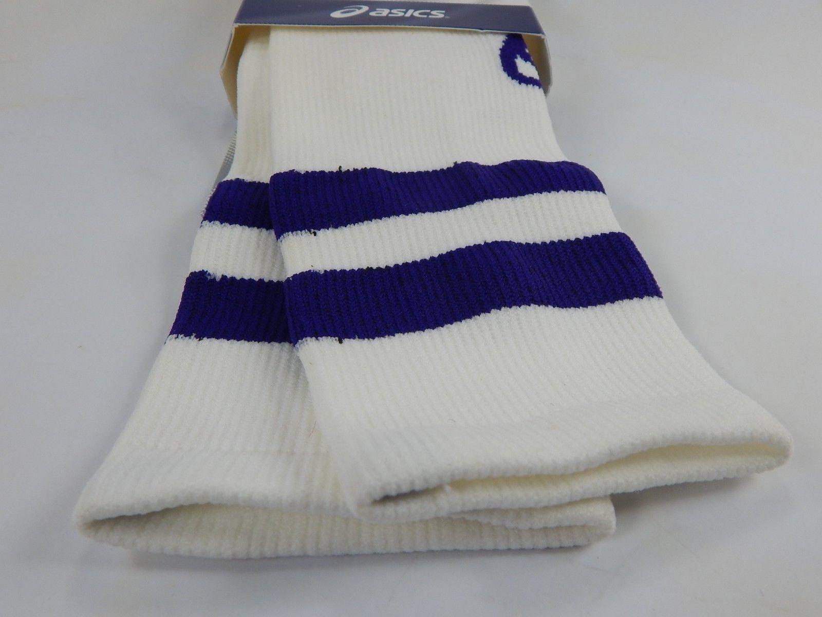 Asics Old School Knee High Socks White S Small Women's Size: 6-7.5 Men's 4.5-6.5