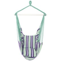 Hammock Cotton Polyester Hanging Rope Swing Outdoor Garden /w Two Pillows - $26.93