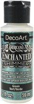 Americana Enchanted Shimmer Paint 2oz-Green - $14.85