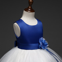 Lovely Royal Blue Wedding Flower Girl Dresses O-Neck Birthday Party Gowns Formal image 4