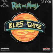 Rick and Morty Animated TV Series Blips and Chitz Embroidered Patch NEW ... - $7.84