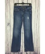 American Eagle Womens Jeans 0 Long J373 Favorite Boyfriend Stretch Destr... - $18.99